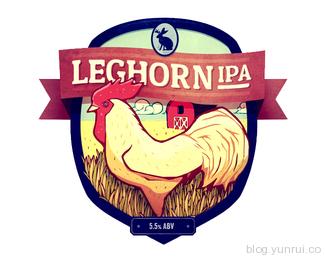 Leghorn IPA by andrewrose in 50 Logos for Inspiration