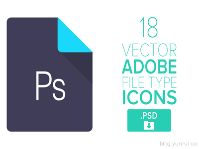 18 Free Adobe Icons by Stylistic in 47 Fresh and Flat Icon Sets for April 2014