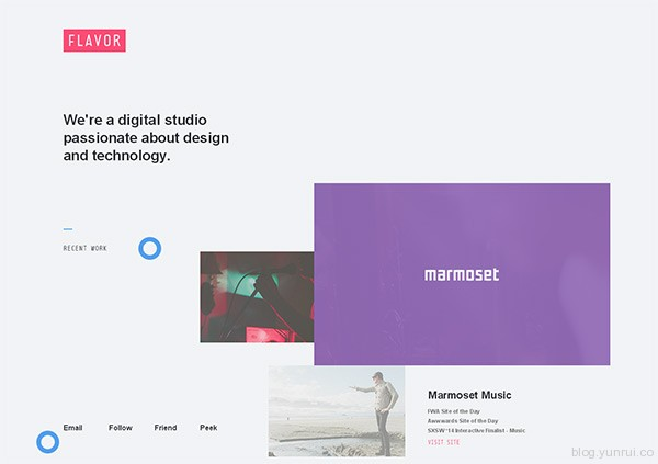 Flavor in 35 Inspiring Examples of White Space in Web Design