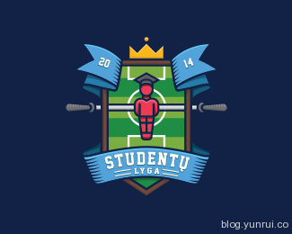 Students League by deiv in 50 Logos for Inspiration