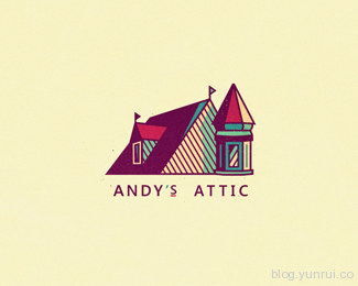 Andy's Attic by szende in 50 Logos for Inspiration