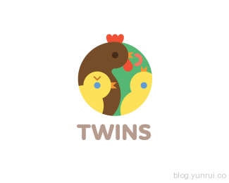 Twins by ru_ferret in 50 Logos for Inspiration