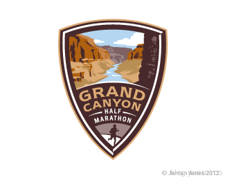 Grand Canyon Half by jerron in 50 Logos for Inspiration