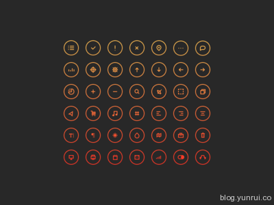 Cir Cu Lar Icons by John Cafazza in 47 Fresh and Flat Icon Sets for April 2014