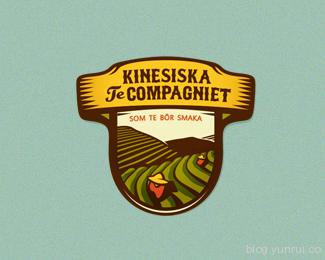 Kinesiska Te Compagniet by szende in 50 Logos for Inspiration