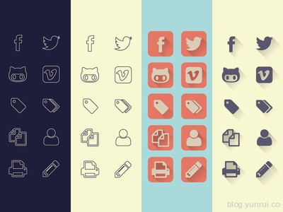 Uncreativelab Icons by Michele Cialone in 47 Fresh and Flat Icon Sets for April 2014
