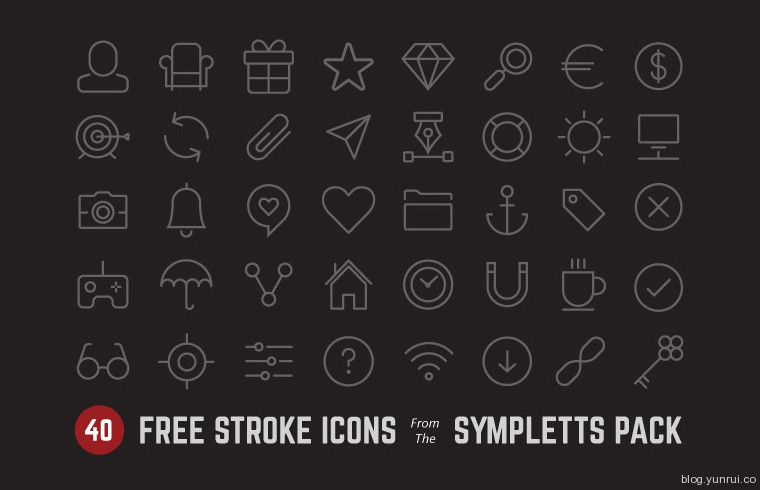 Sympletts Stroke Icon Set
