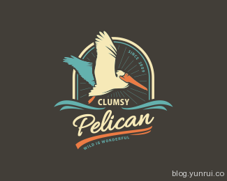 Clumsy Pelican by szende in 50 Logos for Inspiration