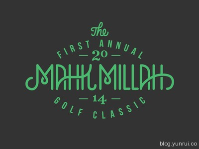 Mahk Millah Classic Logo by Wells in 50 Logos for Inspiration