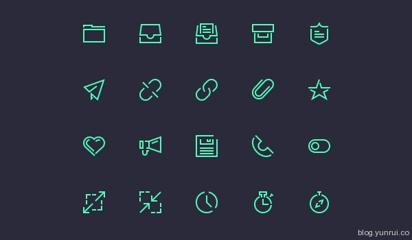 Stroke Gap Icons Vol 2 by Vlad Cristea in 47 Fresh and Flat Icon Sets for April 2014