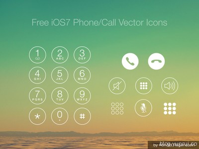 Free iOS7 Phone/Call Vector Icons by Ronald Hagenstein in 47 Fresh and Flat Icon Sets for April 2014