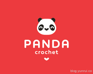 Panda Crochet by 2stolz in 50 Logos for Inspiration
