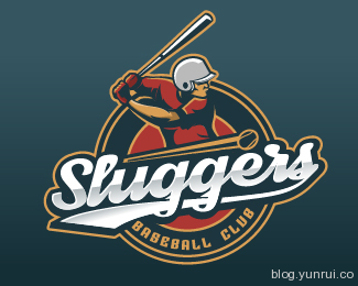 Sluggers baseball club by jaybeeworks in 50 Logos for Inspiration