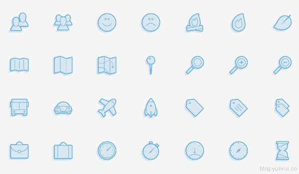 Juicicons by Jared Kennedy in 47 Fresh and Flat Icon Sets for April 2014