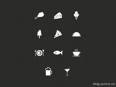 Food Icons by Harshil Acharya in 47 Fresh and Flat Icon Sets for April 2014