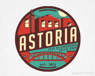 Astoria by Artem in 50 Logos for Inspiration