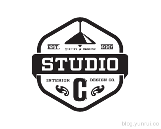 STUDIO C Interior Design Company by wiking in 50 Logos for Inspiration
