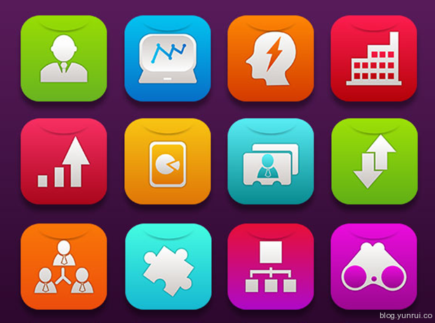 16 Free iOS7 Business Icons by Ferman Aziz in 47 Fresh and Flat Icon Sets for April 2014