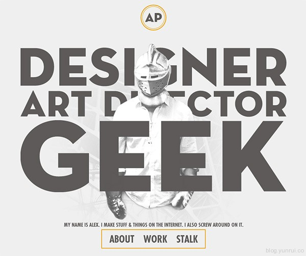 Alex Pierce in 35 Inspiring Examples of White Space in Web Design