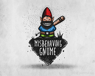 Misbehaving Gnome by DooShan in 50 Logos for Inspiration