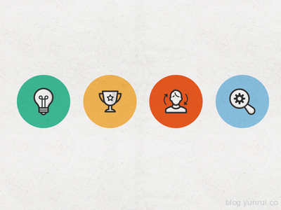 Seo & Marketing Icon Set by Elena Genova in 47 Fresh and Flat Icon Sets for April 2014