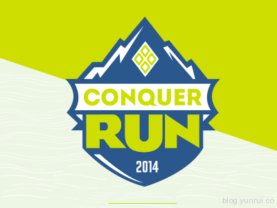Conquer Run by Brian Zeiders in 50 Logos for Inspiration