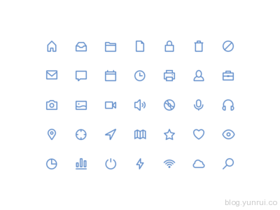 Freebies stroke icons by Rami McMin in 47 Fresh and Flat Icon Sets for April 2014