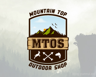 Mountain Top Outdoor Shop by Kevin in 50 Logos for Inspiration