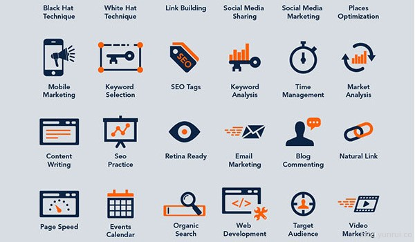 40 Free SEO & Online Marketing Icons by Zee Que in 47 Fresh and Flat Icon Sets for April 2014