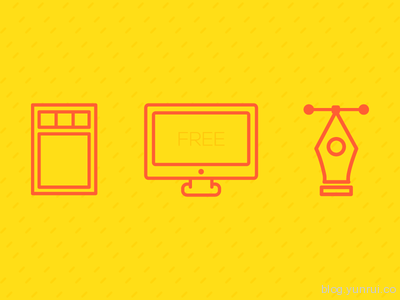 Free Designer Icons by Sofia Moya in 47 Fresh and Flat Icon Sets for April 2014