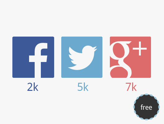Flat Social Network Icons by Wassim in 40+ Fresh and Flat Icon Sets for May 2014