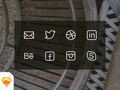 Social & Get in Touch Icons by Michael Sharanda in 40+ Fresh and Flat Icon Sets for May 2014