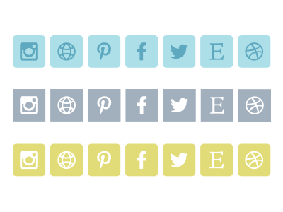 Social Icons by Robinina in 40+ Fresh and Flat Icon Sets for May 2014