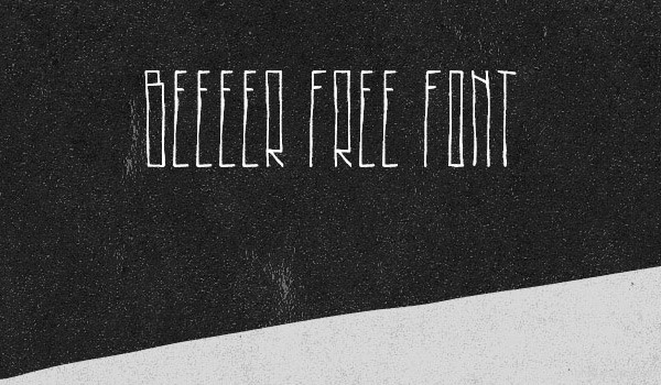 Beeeer Free Font by Noe Araujo in 40+ Fresh and Free Fonts for May 2014