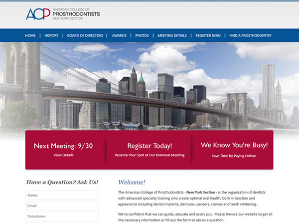 Medical Website Design - ACP