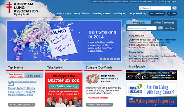 Medical Website Design - American Lung Association