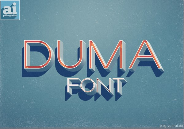Duma Free Font by Ish Adames in 40+ Fresh and Free Fonts for May 2014