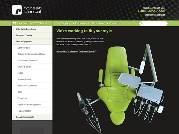 Medical Website Design - Forest Dental