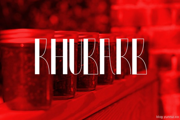 Rhubarb Free Font by Lukasz KuIakowski in 40+ Fresh and Free Fonts for May 2014
