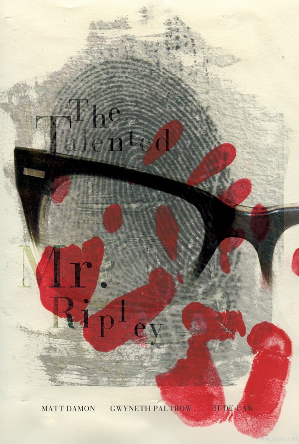 The Talented Mr. Ripley by Laura Stegmeyer in Showcase of Minimal Movie Posters #7