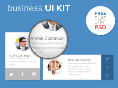 Business UI Kit by Ahmed in 35+ Free UI Kits for Web Designers