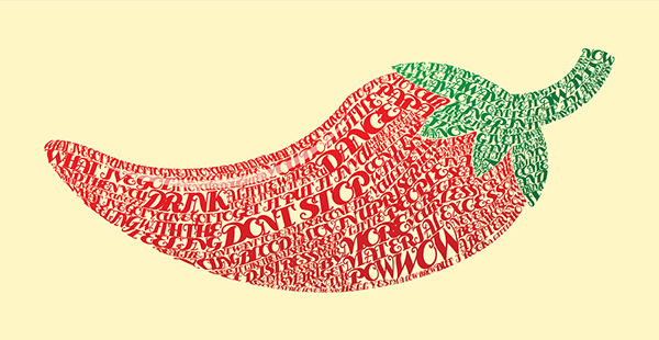 Give it Away - Red Hot Chili Peppers by Philip Bradley in Showcase of Fresh & Creative Typography Projects