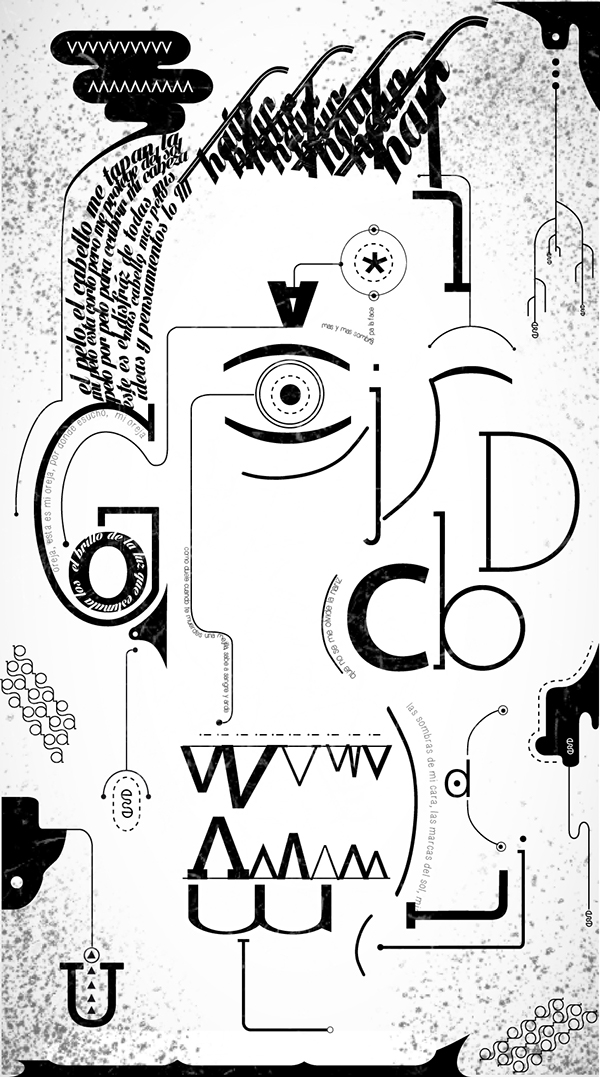 Self-Portrait by Harry Noguera in Showcase of Fresh & Creative Typography Projects