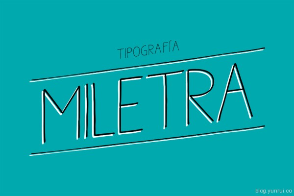Miletra Free Font by María José Orellana in 40+ Fresh and Free Fonts for May 2014