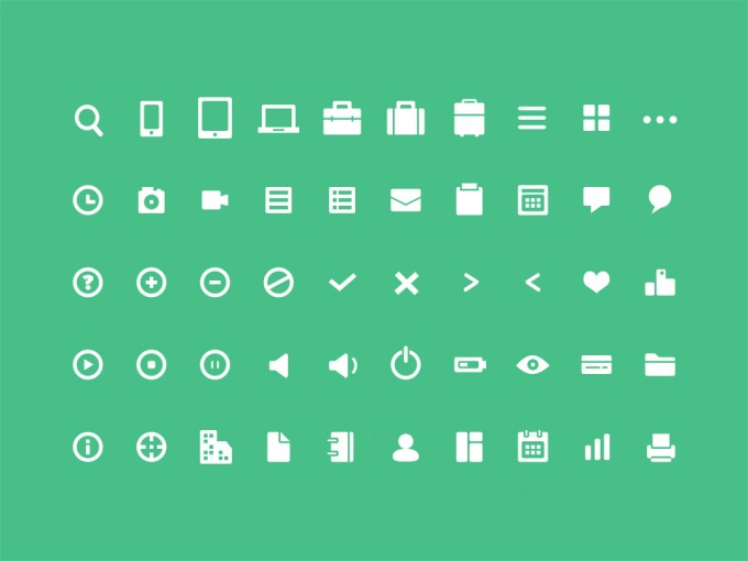 50 Free Mini Icons by Thomas Budiman in 40+ Fresh and Flat Icon Sets for May 2014