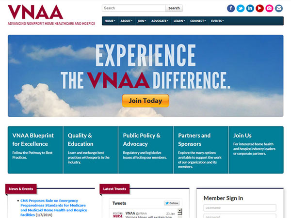Medical Website Design - VNAA