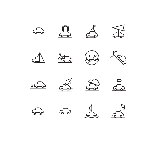 Weather Icons by spovv in 40+ Fresh and Flat Icon Sets for May 2014