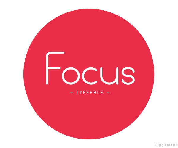 Focus Free Typeface by Egidio Filippetti in 40+ Fresh and Free Fonts for May 2014