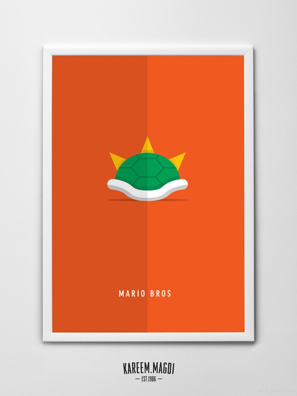 Mario Bros Minimalist Posters by Kareem Magdi in Showcase of Minimal Movie Posters #7