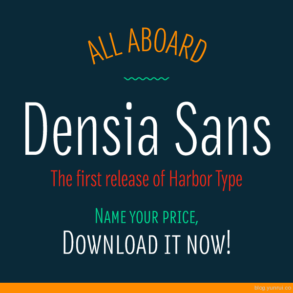 Densia Sans Free Font by Harbor Type in 40+ Fresh and Free Fonts for May 2014